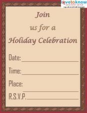 Holiday Celebration Invitation