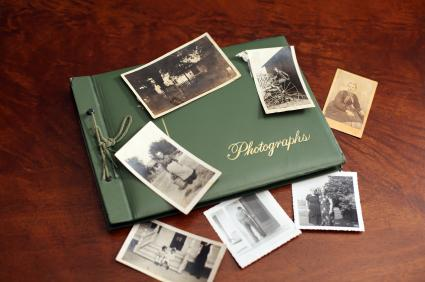 Memory book and photos