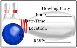 Bowling Party Invitations - Bowling birthday party invitations free templates