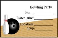 Bowling Lane Invite