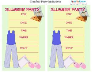 Pajamas and Pizza Invitation