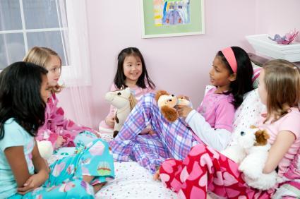 girls at sleepover