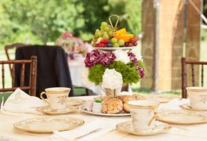 Victorian style tea setting