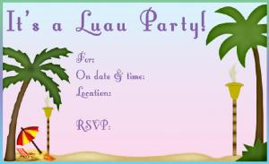 Free Printable Luau Invitations