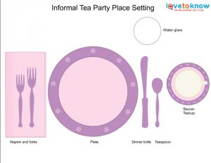 informal tea party table setting