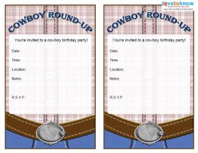Fire Truck Birthday Parties LoveToKnow - Cowboy birthday invitation template