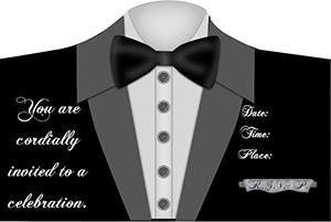 Click to print the black tie invite.
