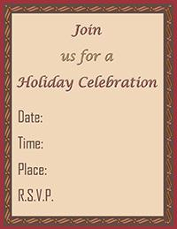 Click to print the holiday invite.