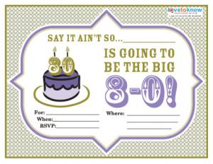 80th birthday party invitation wording 2