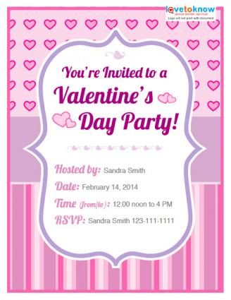 Valentines Day Party Invitation Options - Valentine's day invitation template