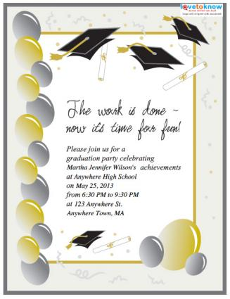 free printable graduation invitations lovetoknow. Black Bedroom Furniture Sets. Home Design Ideas