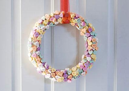 Conversation Heart Wreath by Mandi Tremaynes