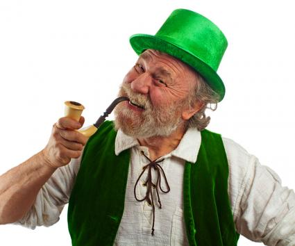 Man dressed as a leprechaun