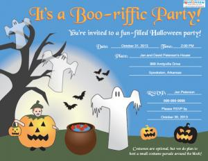 Kid's Halloween Party Invitation