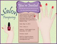 Mother's Day spa party invite