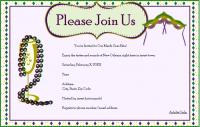 Adult Mardi Gras party invitation