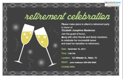 Retirement Party Invitations Lovetoknow