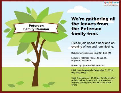 Customizable family reunion invitation