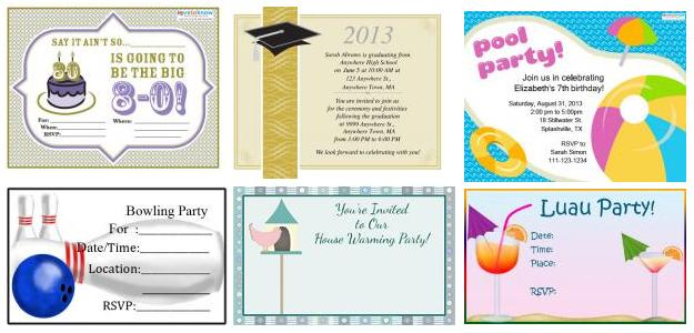 party invitation printables
