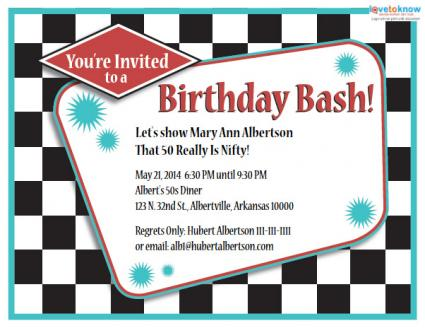 50th Birthday Party Invitations Lovetoknow