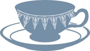 blue teacup clip art