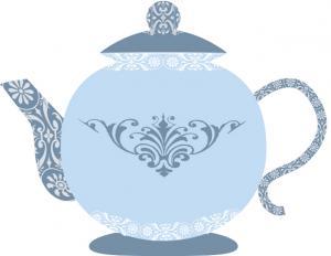 Tea party clip art blue teapot clip art filmwisefo