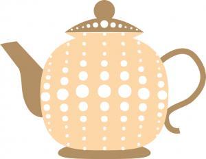 peach teapot clip art