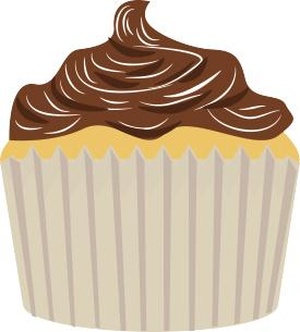 white cupcake clip art