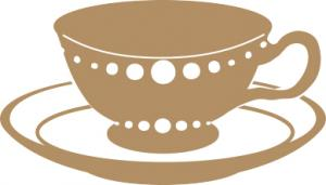 brown teacup clip art