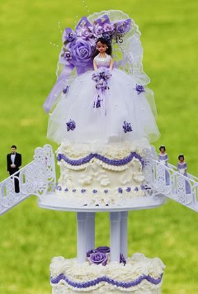 Quinceanera cake topper