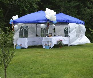 Backyard Party Tent With Decorations