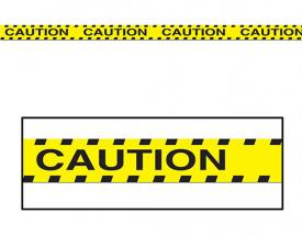 Caution Tape Cake
