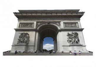 Arch De Triumph Cardboard Cutout Standup