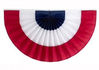 3 stripe red, white and blue bunting