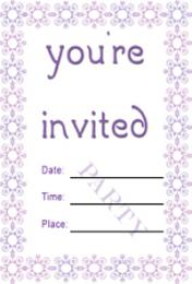Purple Border Invite