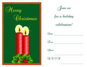 Christmas candle invitation