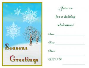 Snowy Christmas party invitation