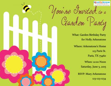 Garden Party Invitations | LoveToKnow