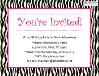 Teen party invitation