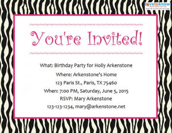 free birthday party invitations lovetoknow