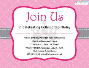 Free Birthday Party Invitations princess v2 ex