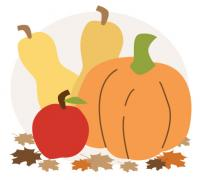 Thanksgiving fruits and vegetables