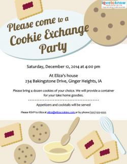 Cookie Swap Invitations To Print Lovetoknow