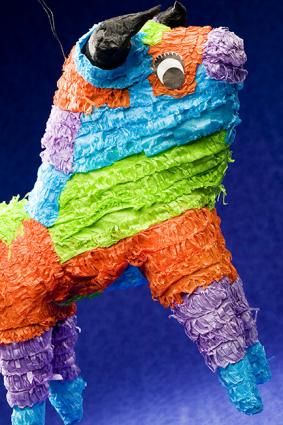 Image of a birthday party bull pinata