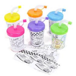 Color Your Own Sipper Cups at Shindigz