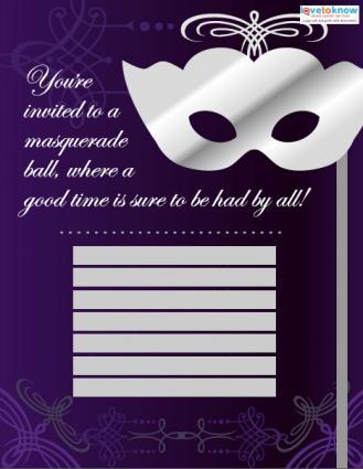 masquerade invitations templates free
