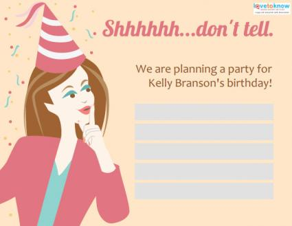 Click to customize the surprise invite!