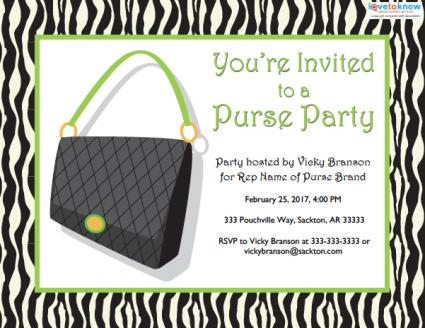 purse party sales invitation