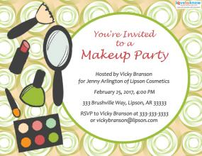 Makeup sales party
