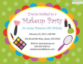 Kids' makeup party